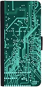 Snoogg Digital Board 2409 Graphic Snap On Hard Back Leather + Pc Flip Cover S...