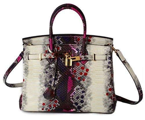 Greeniris le donne una borsa di pelle lady moderne borse borsa croce sacchi tote top gestire sacchi Roseo