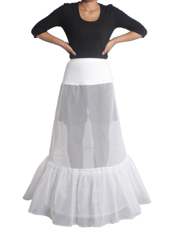 XYXFRAUEN Hochzeit Petticoat 2 Layer Unterrock Schlupf Krinoline WEISS XS-M günstig bestellen