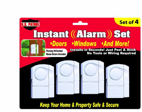 Wireless Window/Door Alarm System Kit (4 Pack)