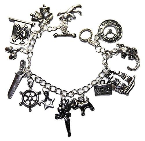peter-pan-13-themed-charms-silvertone-metal-charm-bracelet