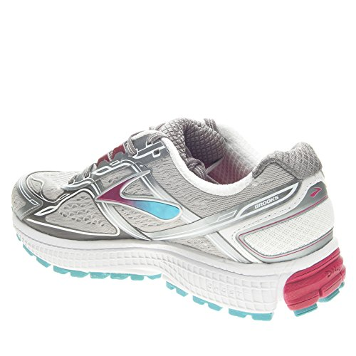 Brooks Women S Ghost  Shoes Metallic Charcoal Bright Rose