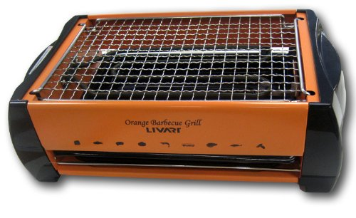 Great Features Of Livart Orange BBQ Grill, Electric Barbecue Grill