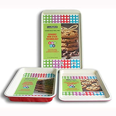 CasaWare 3 Piece Baking Set with 2 Jelly Roll Pans