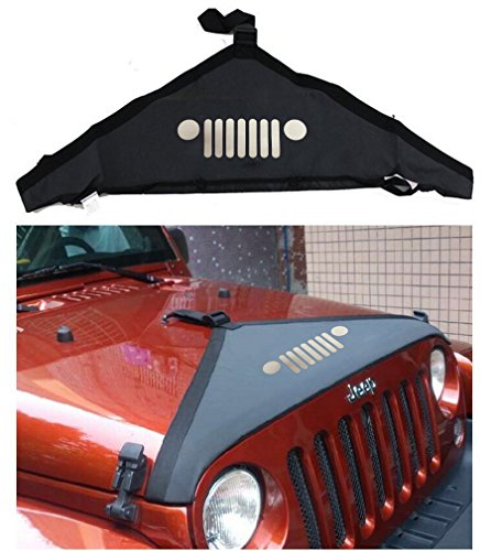 lantsun-hood-cover-front-end-bra-cover-t-style-protector-kit-for-2007-2016-jeep-wrangler-jk-unlimite