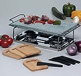 Gourmet-Grill 66510 mit Steinplatte 32x19 cm, Rechaud, Gestell und Pastenbrenner
