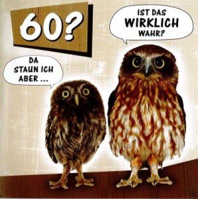 Geburtstagskarte mit Musik 60. Geburtstag