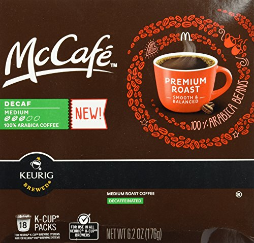 McCafé Decaf Premium Roast Medium K-cup Packs, 6.2 Oz - 18 Count (Keurig Mccafe Decaf compare prices)