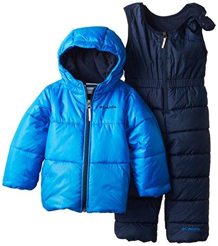 Columbia Little Boys' Bright Snow Set, Hyper Blue/Collegiate Navy, 3T front-1012389