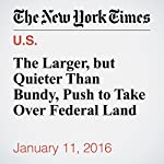 The Larger, but Quieter Than Bundy, Push to Take Over Federal Land | Jack Healy,Kirk Johnson