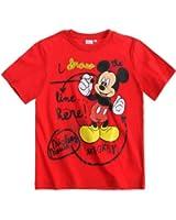 Disney Mickey Short Sleeve T-Shirt red