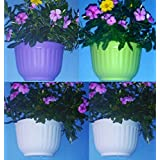 Self Watering Wall Hanging Planter-White,Fruit Green & Purple Colors(Set Of FOUR In Any Color Combination)