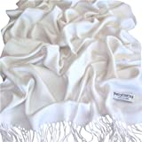 Plain Colour Design Pashmina & Silk Shawl Scarf Wrap Stole Throw