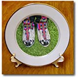 KIKE CALVO Japan Collection - Image of Sherpa shoes. - 8 inch Porcelain Plate (cp_216113_1)