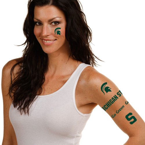 NCAA Michigan State Spartans Multi-Pack Temporary Tattoos - 1