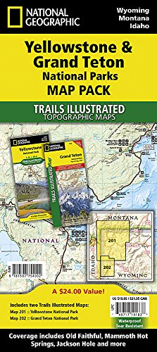 Yellowstone/Grand Teton National Parks, Map Pack Bundle: Trails Illustrated National Parks (National Geographic Trails Illustrated Topographic Map)