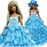 Barwa Princess Evening Wedding Party Clothes Wears Dress Outfit Set For Barbie Doll