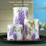Led Wisteria Flameless Candles - Set Of 3