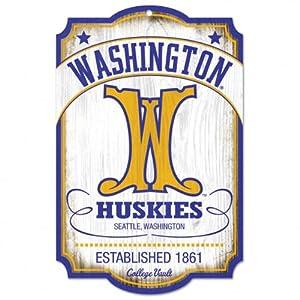 Buy NCAA College Vault Washington Huskies 11-by-17 Wood Sign by WinCraft