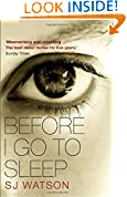 Before I Go To Sleep by S J Watson book cover
