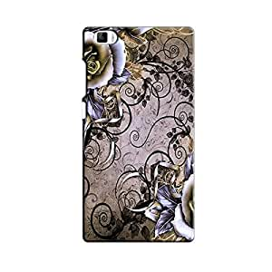 BROWN FLORAL BACK COVER FOR XIAOMI MI5