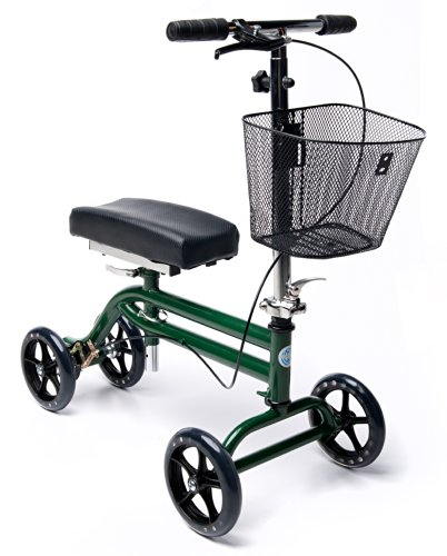 KneeRover Steerable Knee Scooter Walker Green