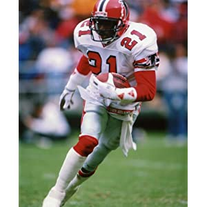 DEION SANDERS ATLANTA FALCONS 8X10 SPORTS ACTION PHOTO (A)