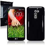 LG G2 TPU Gel Skin Case / Cover - Solid Black
