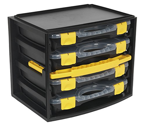 Sealey AP0709 Portable 4 Case Modular Organiser