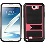 MYBAT SAMGNIICASKGM3060NP Soft Gummy Armor Stand Protective Case for Samsung Galaxy Note 2 - 1 Pack - Retail Packaging - Hot Pink