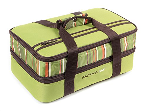 Rachael Ray Expandable Lasagna Lugger, Green (Baking Dish Insulated compare prices)