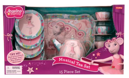 Schylling Angelina Ballerina Musical Tea Set