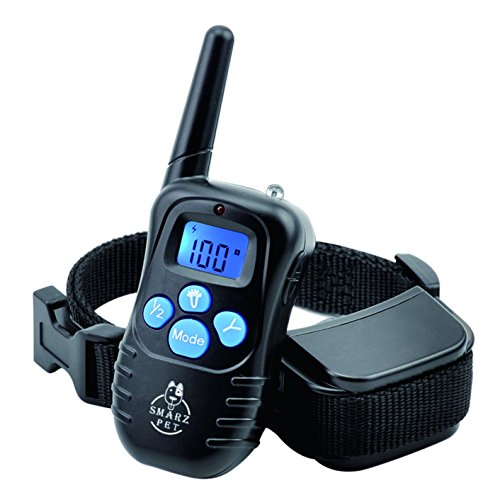 smarz-pet-lcd-ip45-waterproof-and-rechargeable-remote-dog-training-collar-with-100-levels-of-beep-vi