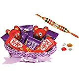 Cadbury Chocolates & Skylofts Chocolate Hamper With Rakhi & Teeka - Rakhi Chocolates