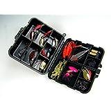 33piezas en caja láser Spinner Fishing hilandero Lure metal suave señuelo de la pesca