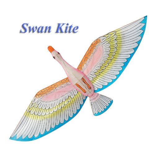 Blue Wings Swan Kite - Chinese Hand-Crafted Silk Kites