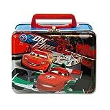 1 X Lunch Box - Disney - Cars - Metal Tin Case w/ Plastic Handle & Clasp