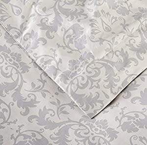 Pinzon Paris Printed Duvet Set - King, Light Gray