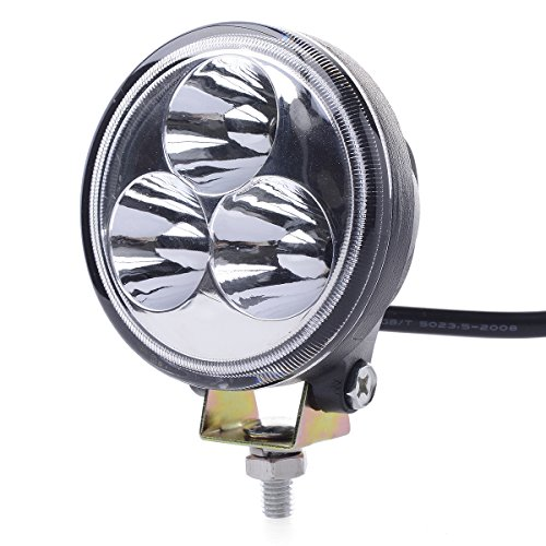 Xcsource 2Pcs 9W 9-30V 60 Degree 1800 Lumen Led Floodlight Lamp Work Light For Working / Driving / Fog, Off Road Flood Light-Jeep Cabin, Boat, Suv, Truck, Car, Atvs Fishing Driving Light Waterproof Round Car Lamp Ip67 Ld326B