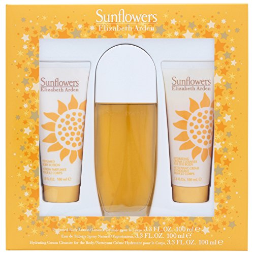 Elizabeth Arden Sunflowers Confezione Regalo 100ml EDT + 100ml Lozione per il Corpo + 100ml Cream Cl