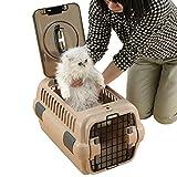 Richell 94914 Double Door Pet Carrier, Medium, Brown