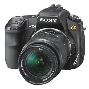 SONY - Alpha DSLR-A200 + objectif 18-70 mm Livré avec batterie lithium