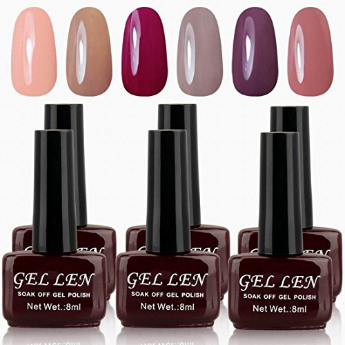 Gellen Soak off Gel Nagellack UV Gel Led Nagellack 6...
