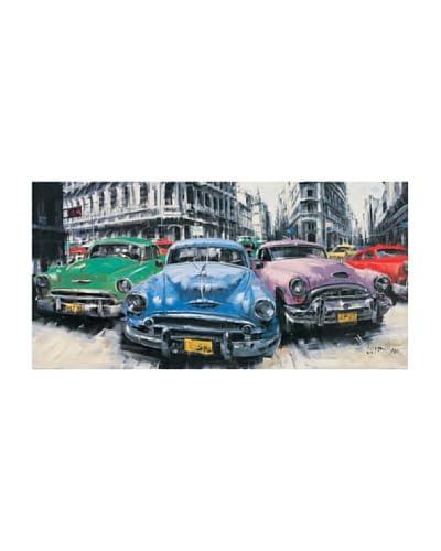 ArtopWeb muurschildering Massa Classic American Cars in Havana 50x100 cm