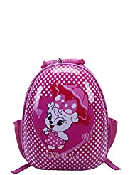 T-Bags Cute Cat With Umbrella Hard Shell Rose Pink Backpack