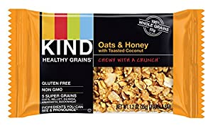 KIND Healthy Grains Granola Bars, Oats & Honey with Toasted Coconut, 1.2oz Bars, 15 Count