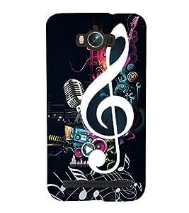 Music 3D Hard Polycarbonate Designer Back Case Cover for Asus Zenfone Max ZC550KL :: Asus Zenfone Max ZC550KL 2016 :: Asus Zenfone Max ZC550KL 6A076IN