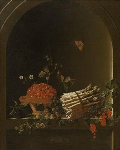 The Perfect Effect Canvas Of Oil Painting 'Still Life With Fruit And Asparagus, By Adriaen Coorte' ,size: 24x30 Inch / 61x76 Cm ,this Cheap But High Quality Art Decorative Art Decorative Prints On Canvas Is Fit For Bedroom Artwork And Home Decor And Gifts