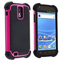 eForCity Hybrid Armor Case Compatible with Samsung© Galaxy S II T-Mobile T989, Black / Hot Pink