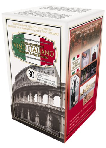Vino Italiano 4 Week Wine Kit, Cabernet Sauvignon, 15.5-Pound Box